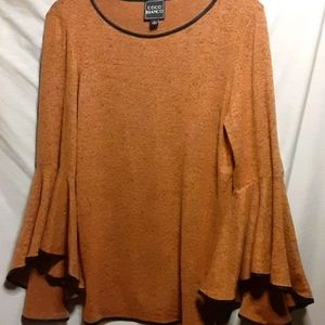⚠️4 for $65-NWT Coco Bianco 3/4 Sleeve Top